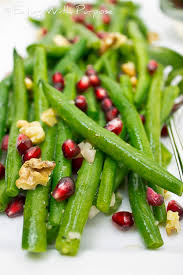 green beans with pomegranates toasted walnuts with purpose