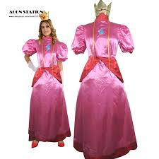 Mario Princess Peach Halloween Costume Buy Wholesale Super Mario Princess Peach Costume