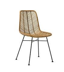chaise en chaise en rotin design léna chair de la marque bloomingville réf