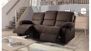 canapé relax tissus 3 places canap fixe 3 places 2 relaxation manuel en tissu canape pour