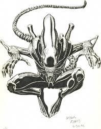 alien sketch in eric dls u0027s arthur adams unpublished comic art