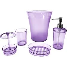 Glass Bathroom Accessories Sets Purple Glass Bathroom Accessories Sparkling Purple Bathroom