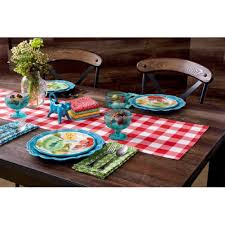 Red And Teal Kitchen by Amazon Com The Pioneer Woman Kitchen Linens Table Runner And