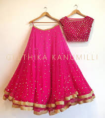 opposite color of pink stunning pink color designer lehenga and choli from geethika