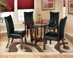 modern black dining room sets small brown table with black chairs for grey dining room color