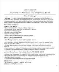 resume skills and abilities sles retail store manager resume exles resume exles for retail