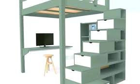 lit mezzanine avec bureau pas cher lit hauteur lit mezzanine bois blanc 2 places lit mezzanine