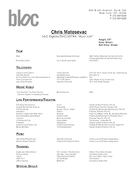 Beginning Actor Resume Resume Dance Audition Resume