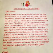elf on the shelf goodbye letter levelings