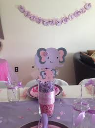 purple baby shower decorations elephant centerpieces pink elephant centerpieces paisley
