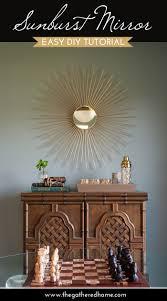 easy diy sunburst mirror the gathered home