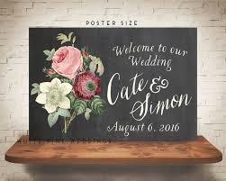 wedding welcome sign chalkboard blush wedding marsala