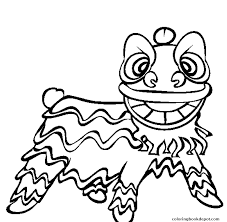 lion dancer book lion free new year scfb1 coloring pages