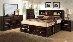 Queen Storage Beds With Drawers Bedroom Queen Storage Bed With Bookcase Headboard Platform