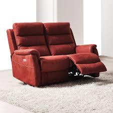canape relax électrique 2 places en tissu sofamobili