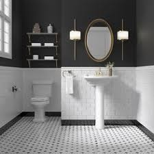 Black And White Bathroom Designs 31 Retro Black White Bathroom Floor Tile Ideas And Pictures
