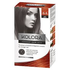 Light Copper Brown Kolora Permanent Hair Color 6 4 Light Copper Hair Dying