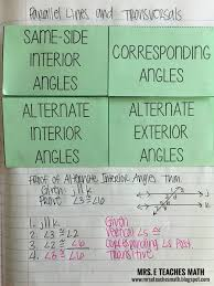 38 best transversals and angles images on pinterest math