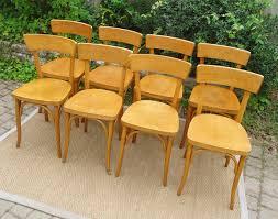 chaises thonet huit chaises de bistrot thonet anciennes fabriquées en