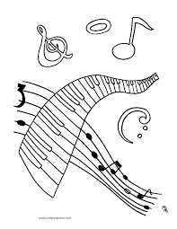 music coloring page crayon action coloring pages