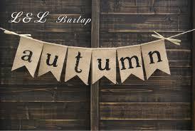 aliexpress buy autumn burlap bunting autumn garland autumn
