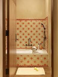 Lime Green Bathroom Accessories by Bathroom Design Puppy Pens Bathroom Mediterranean Beige Tile