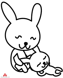 outline two rabbit clipart free clipart design download