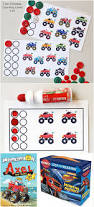 monster truck counting printables for preschoolers artsy momma