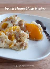peach dump cake recipe try anything once