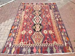 5 X 6 Area Rug And Orange Kilim Rug Area Rug 126 X 64 Kilim Rug Vintage