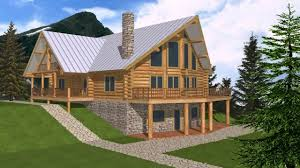 small mountain house plans with walkout basement youtube