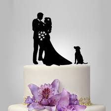 cake topper with dog artfire markets