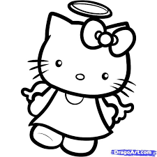 158 kitty coloring pages images drawings