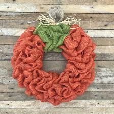 Halloween Picks For Wreaths by Burlap Pumpkin Wreath Fall Wreath Autumn Wreath Halloween