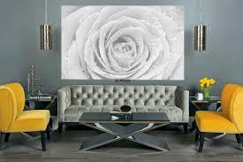 White Rose Furniture Mural Big White Rose