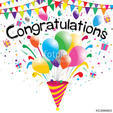 congratulation poster congratulations party on a white background vector