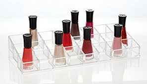 amazon com groovi beauty acrylic nail polish organizer by the