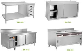 Restaurant Stainless Steel Kitchen Cabinets Top Shelf Simple - Stainless steel kitchen storage cabinets