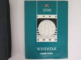 1998 ford windstar owners manual guide book bashful yak