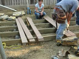 tips ground level deck detached deck plans deck kits lowes