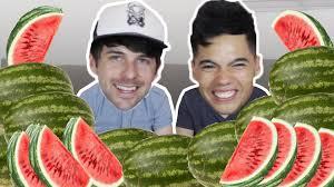 Challenge Smosh 10 Watermelons In 10 Min Challenge Ft Smosh Ian