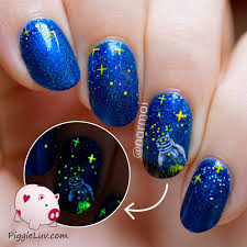 piggieluv fireflies become stars nail art