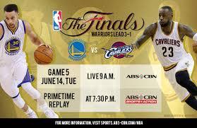 ABS CBN Sports NBAFinals Game 5 Golden State