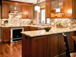 kitchen backsplash white cabinets brown countertop look modern