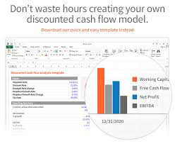 Discounted Flow Analysis Excel Template Dcf Discounted Flow Model Excel Template Eloquens