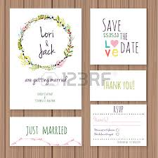 wedding invitation card set thank you card save the date cards