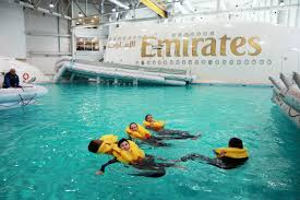 fires escape slides and champagne training emirates u0027 cabin crew