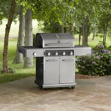 Backyard Grill 4 Burner Gas Grill by Kenmore Elite 600 Series 4 Burner Dual Fuel Stainless Steel Gas