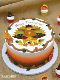 thanksgiving cake featuring lucks autumn edible image decoration