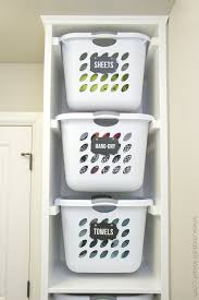 wall laundry hamper laundry basket organizer built in make it and love it